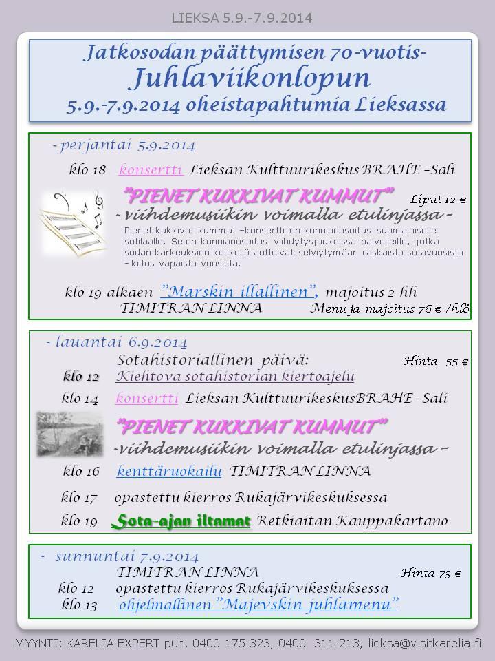 1  Oheisohjelmaa 5.-7.9.2014
