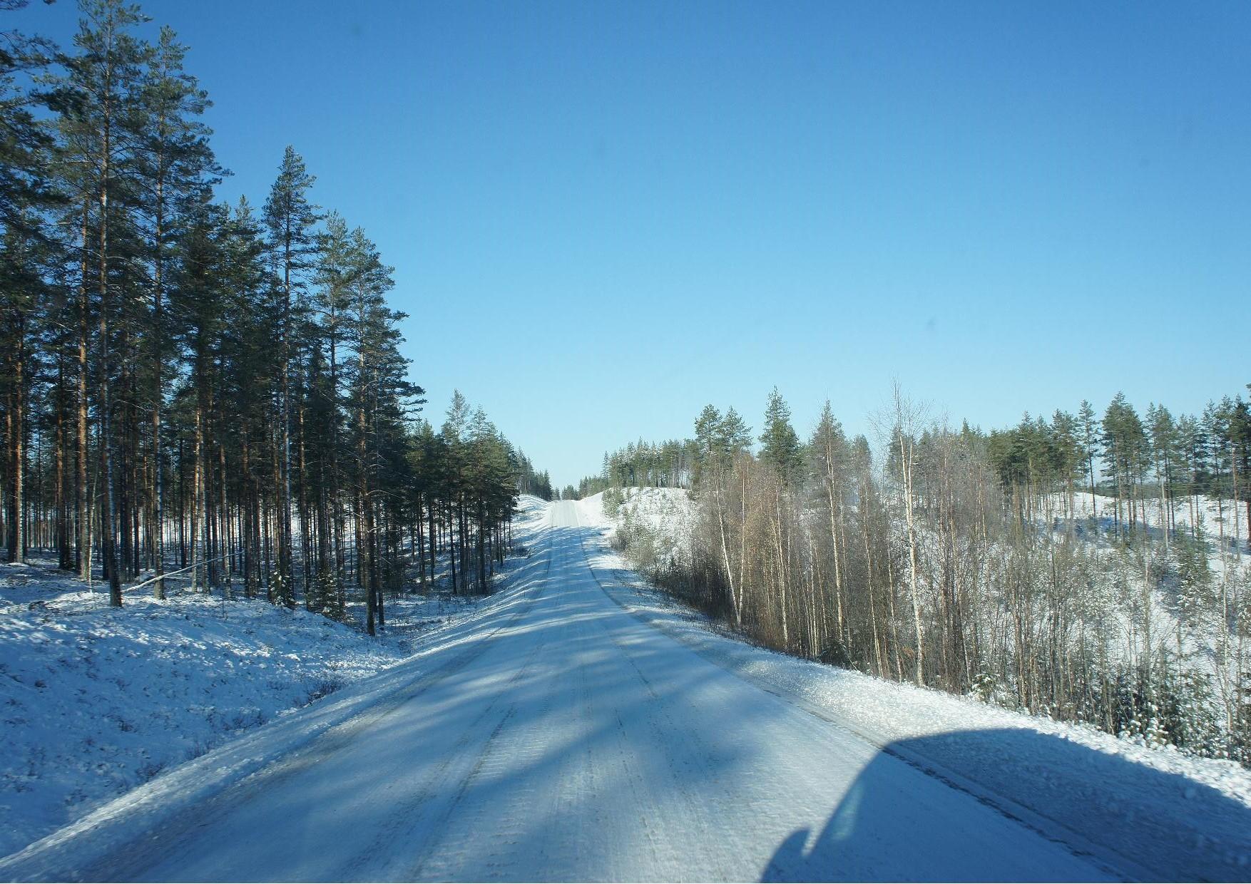 Rukajärven tie Nurmijärvelle saavuttaessa