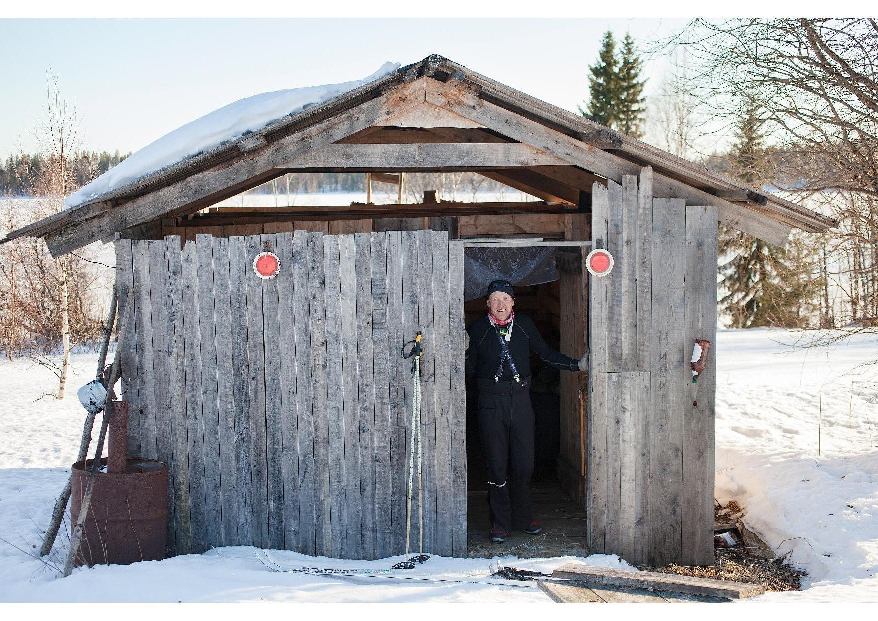 Kalastajan maja Honkaniemessä, Risto Kiiskinen.