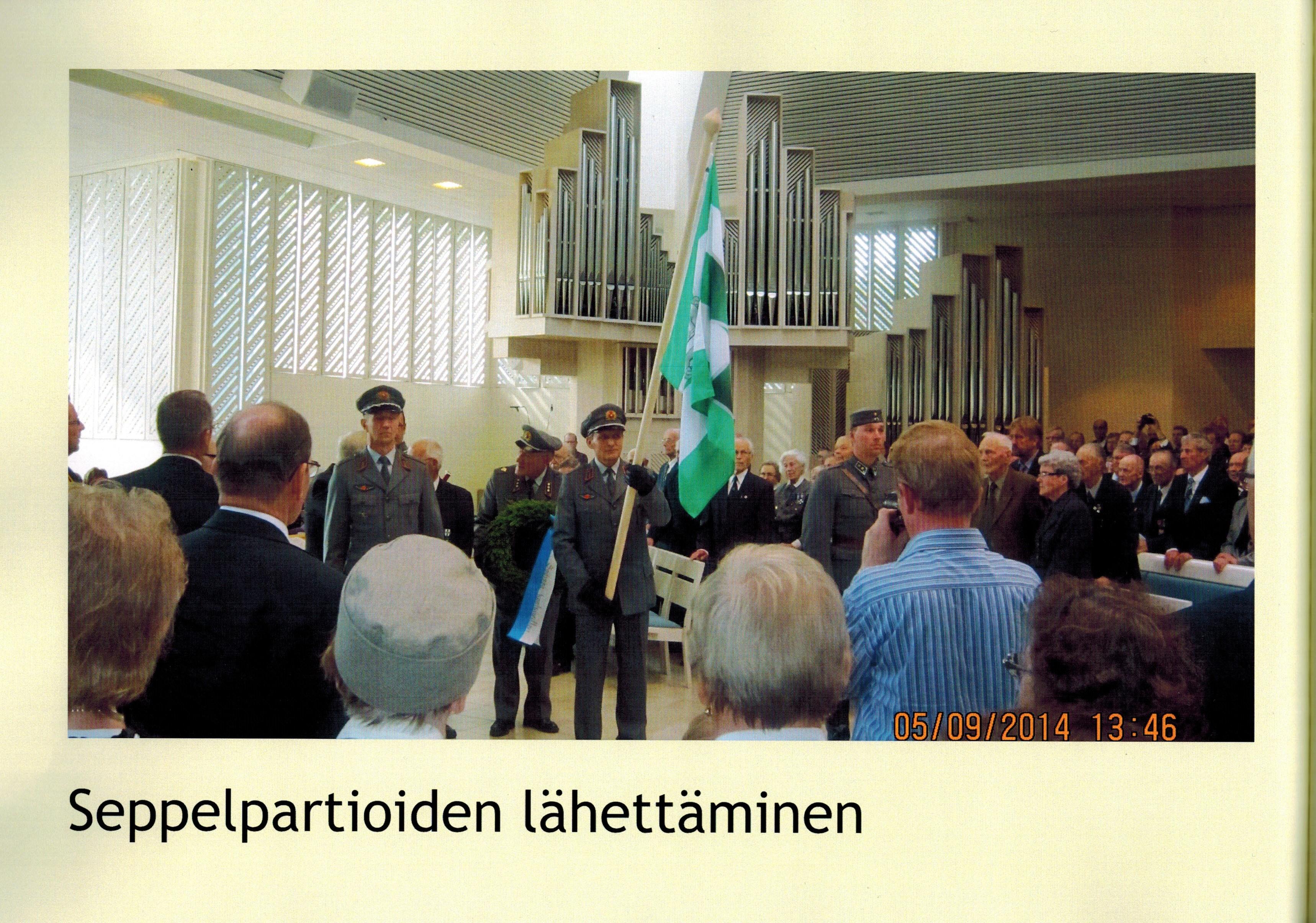 Lieksan Kirkko 5.9.2014 Kansalaisjuhla 70 vuotta Jatkosodan päättymisestä. Kuva Riitta Päällysaho.