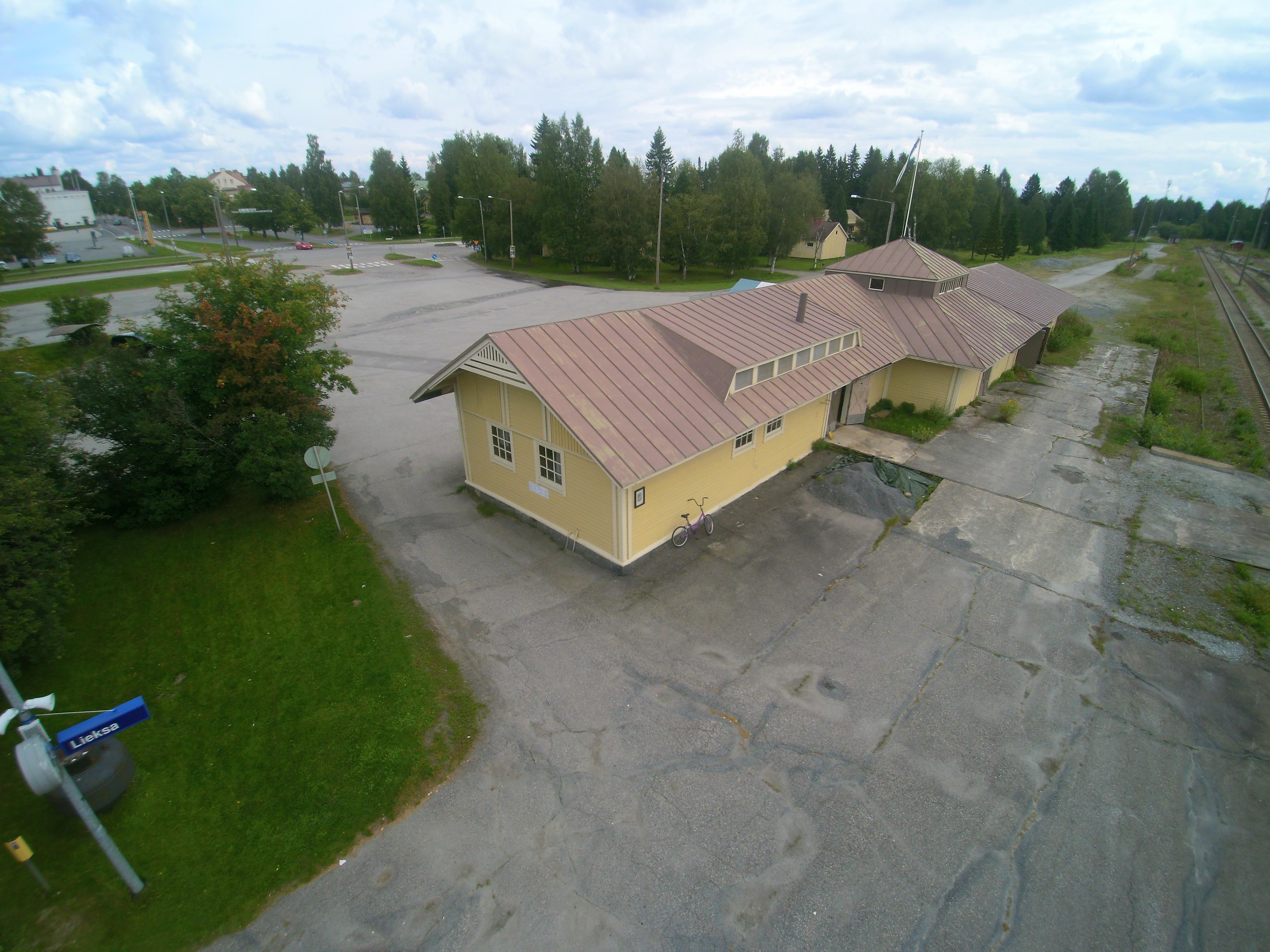 Rukajärvi-keskuksen pihapiiri
