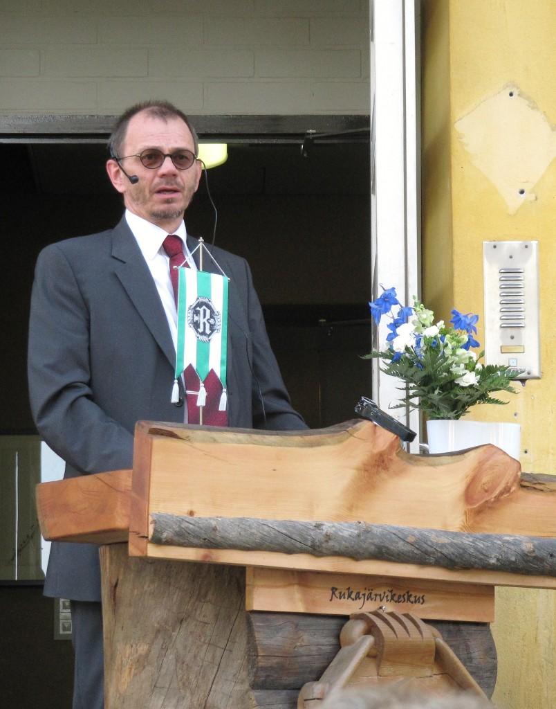 Lieksan kaupunginvaltuuston puheenjohtaja Ari Marjeta. Kuva Hannu Saraluoto.