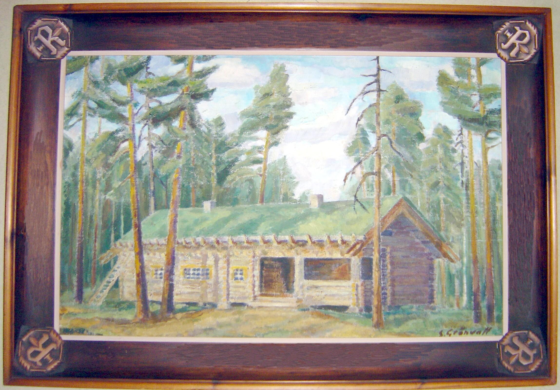 Sven Grönvallin maalaus Marskin Majasta vuodelta 1943.