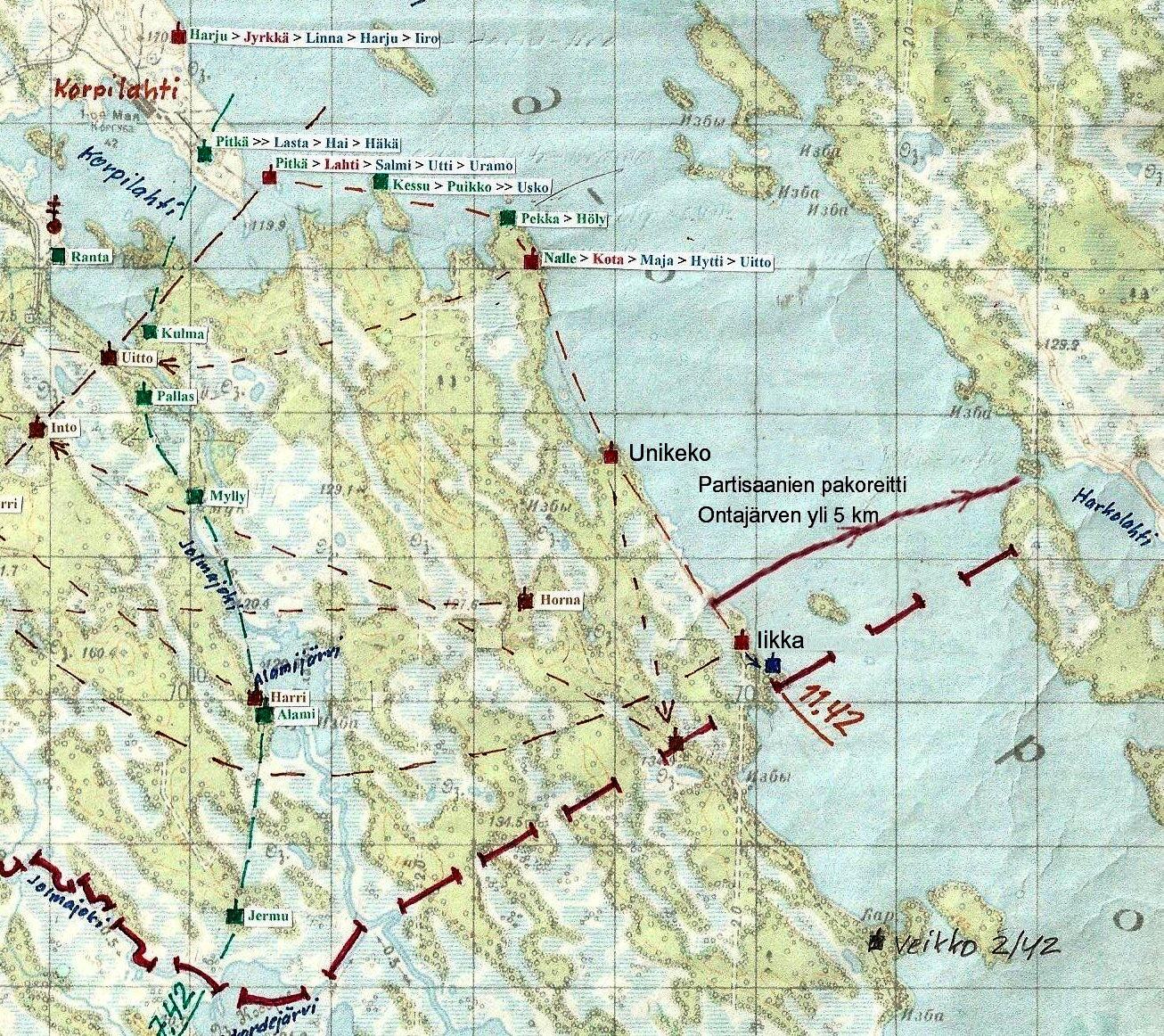 Joulu 1943 Tapahtui 70 Vuotta Sitten Ontajarvella Rukajarvikeskus