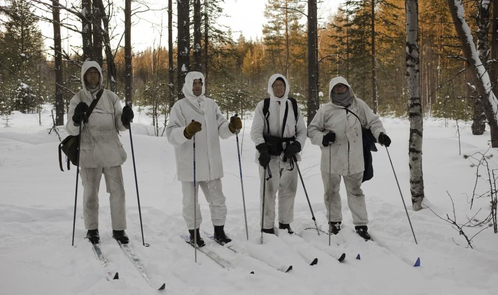 Ryhmä Pieninkä, Ari, Kari, Isto ja Reijo. Jeljärvellä 14.3.2013.