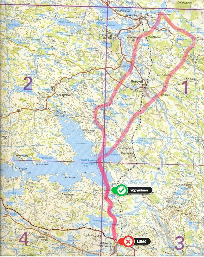 Kaukopartio-osasto Kalevan Suopassalmen retki 27.3.-31.3.1944