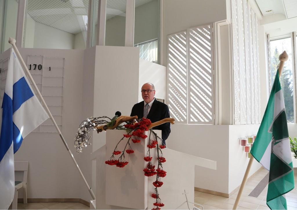 Puhemies Eero Heinäluoma piti juhlapuheen Lieksassa 5.9.2014 pidetyssä kansalaisjuhlassa 70 vuotta Jatkosodan päättymisestä.