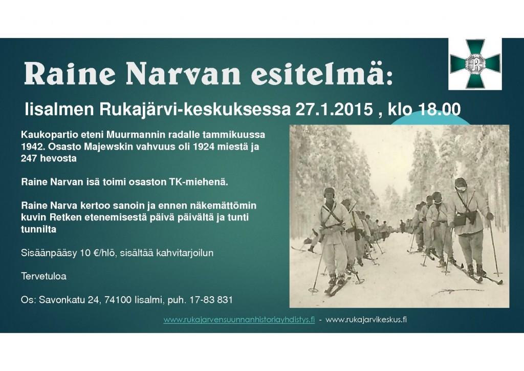 Raine Narva-esitelmä