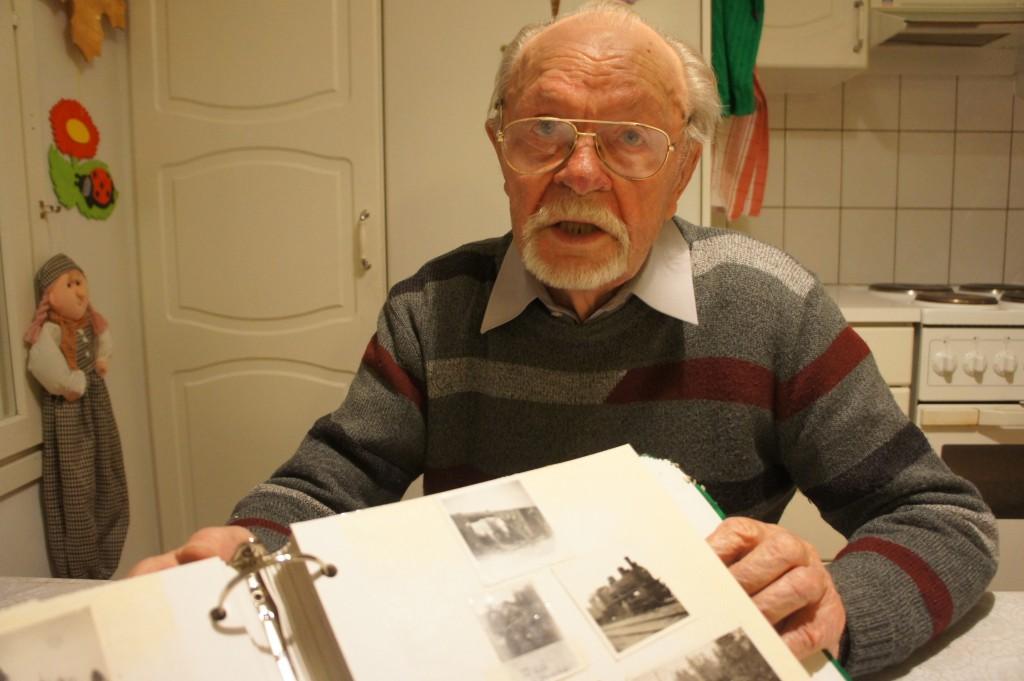 Klaes Kärkkäinen 10.11.2012, jolloin hän vielä asui kotonaan.