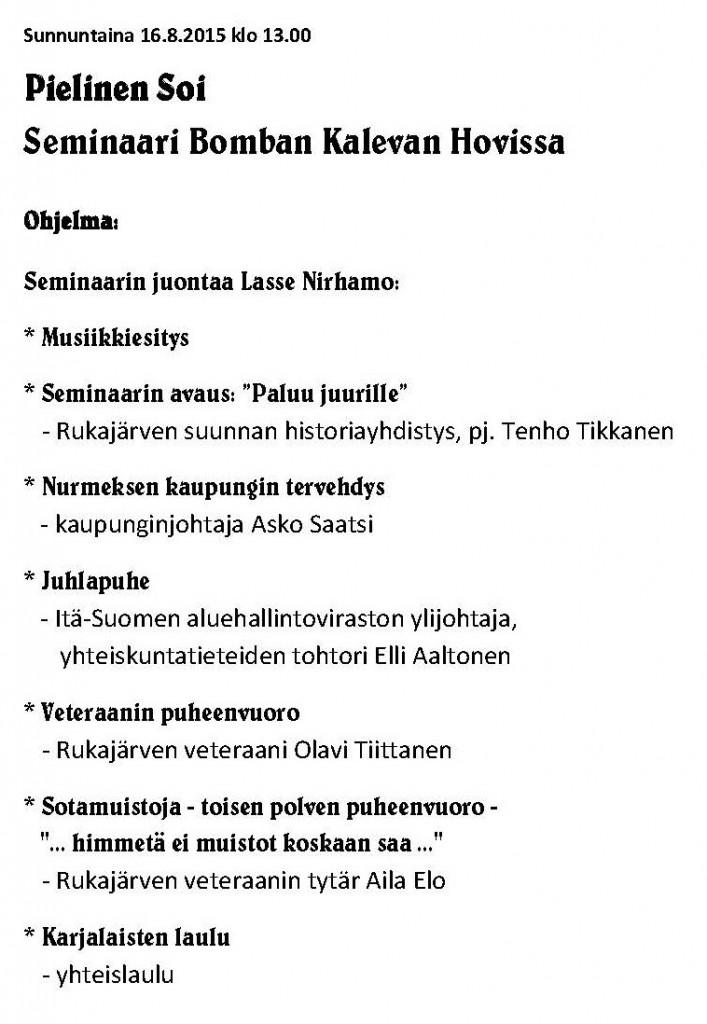 Ohjelma sivu 3.