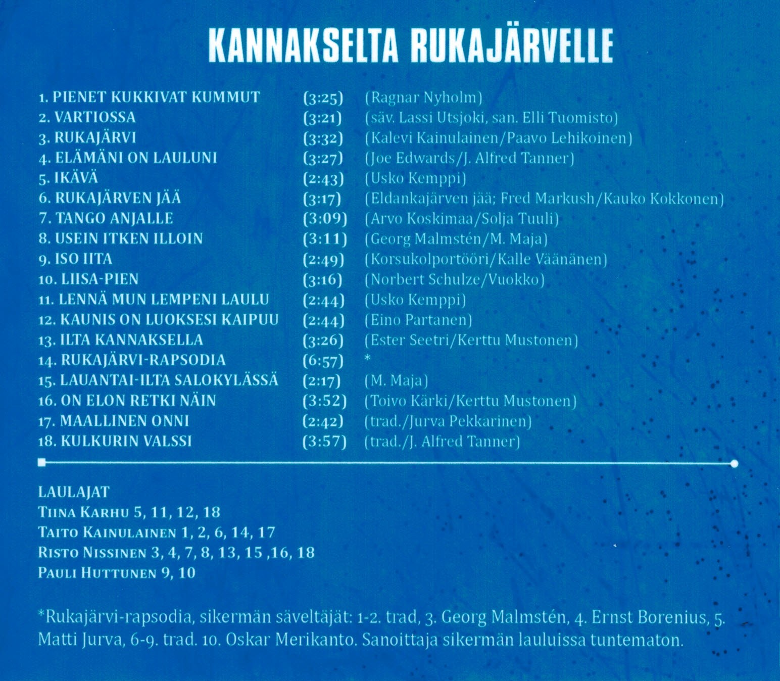 Kannakselta Rukajärvelle - levy-3