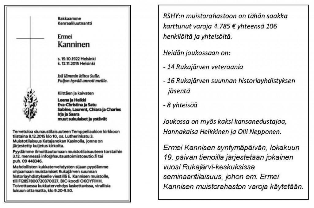 Perustajajäsenemme kenraaliluutnantti EK-iunaustilaisuus 8-12-15-5-2