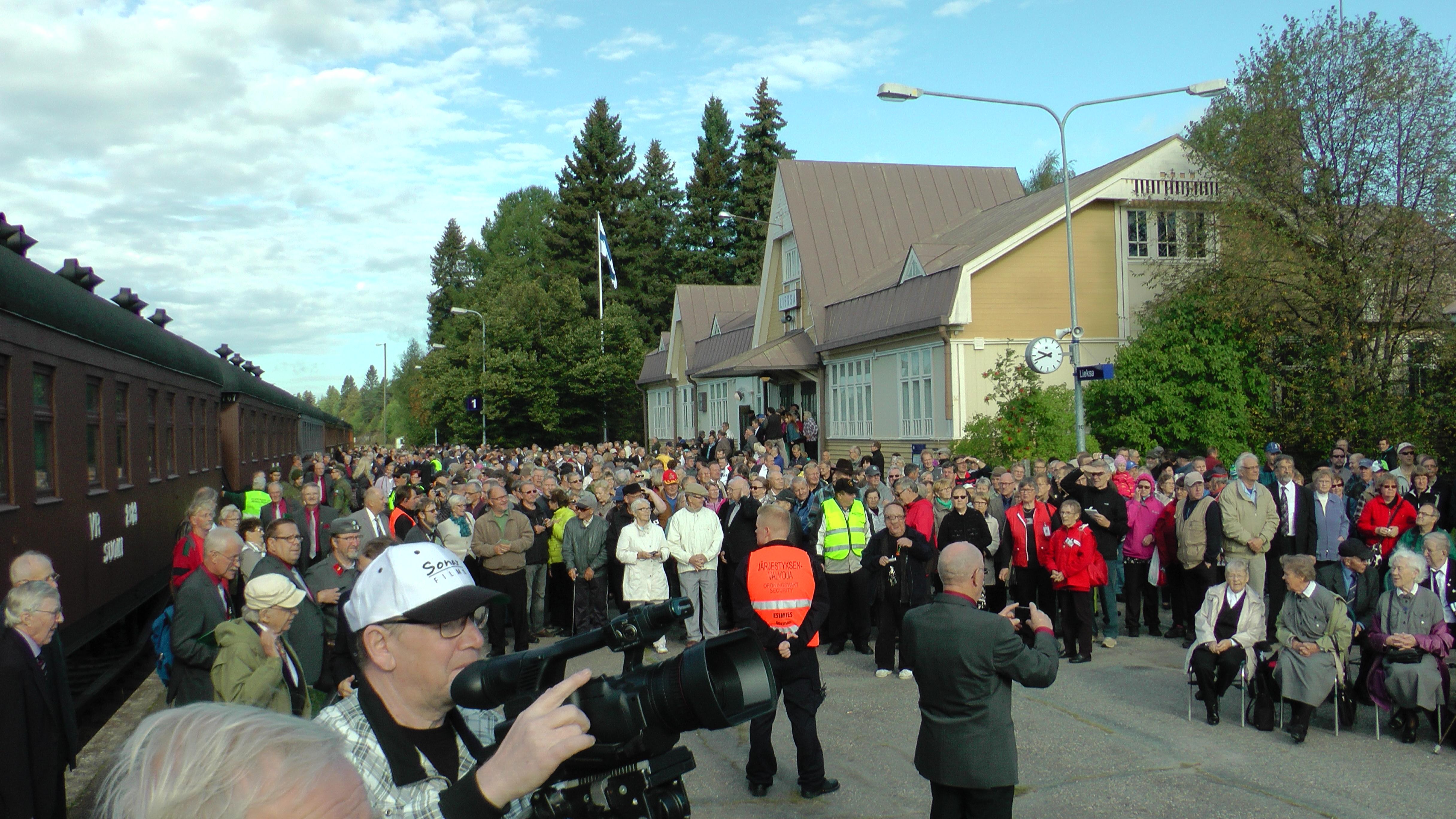 Lieksan Rukajärvi-keskus sijoittuu rautatieasemalle.